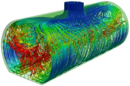 Fluid Dynamics Analysis (image from ANSYS® Fluid Dynamics Analysis)