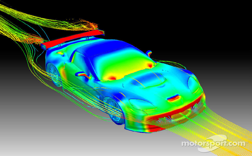 Aerodynamic Analysis of Vehicles (image from ANSYS® Fluid Dynamics Analysis)
